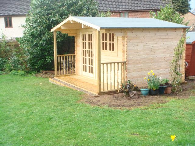 picture - 4x3 cabin and veranda